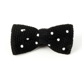 Black Knit Polkas bow ties