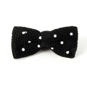 knit polkas black bow ties