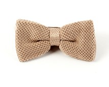 BOW TIES - KNITTED - LIGHT CHAMPAGNE