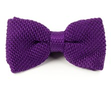 BOW TIES - KNITTED - PLUM