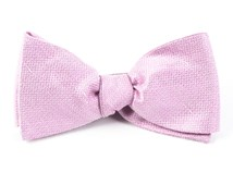 BOW TIES - SOLID LINEN - BABY PINK