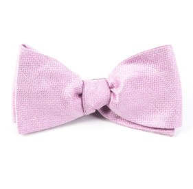 Baby Pink Solid Linen bow ties