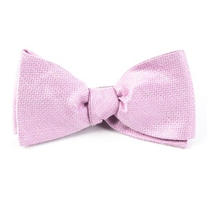 solid linen baby pink bow ties