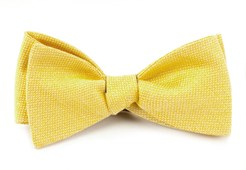 BOW TIES - SOLID LINEN - BUTTER GOLD