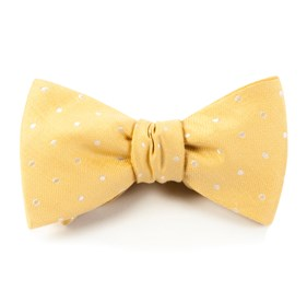 Butter Dotted Dots bow ties