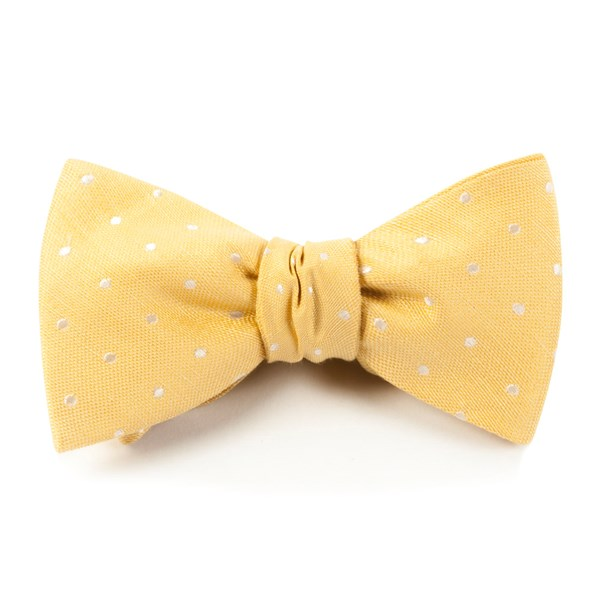 Butter Dotted Dots Bow Tie