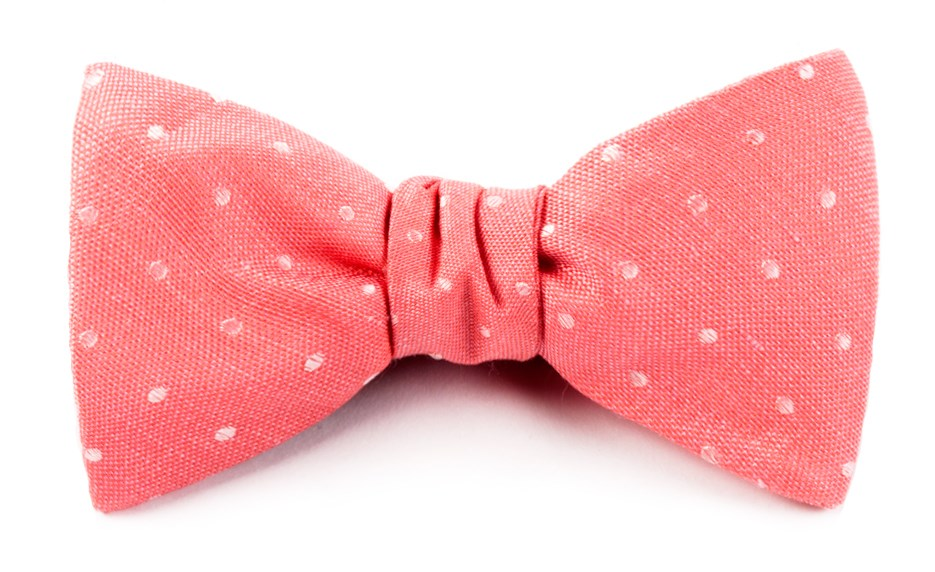 71f27d4bf21a Coral Dotted Dots Bow Tie | Men's Bow Ties | The Tie Bar