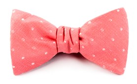 Bow Ties - Dotted Dots - Coral