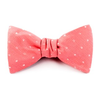 Dotted Dots Coral Bow Tie