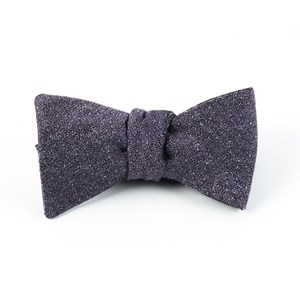 linen stitched purple bow ties