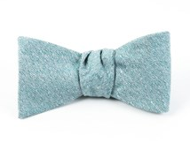 Bow Ties - LINEN STITCHED - ROBINS EGG