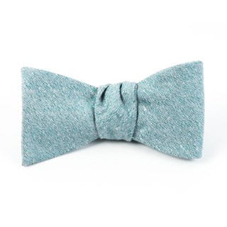 linen stitched robins egg bow ties