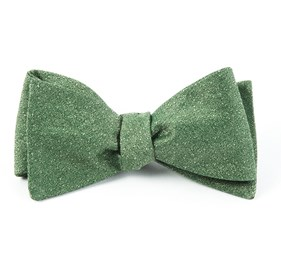 Grass Linen Stitched bow ties