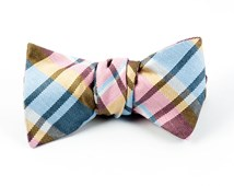 Bow Ties - LINEN AVENUE PLAID - PINK