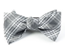 Bow Ties - REFLECTION PLAID - SILVER