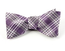 Bow Ties - REFLECTION PLAID - MAUVE