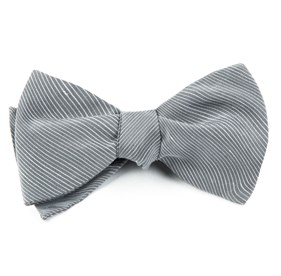 Silver Fountain Solid bow ties