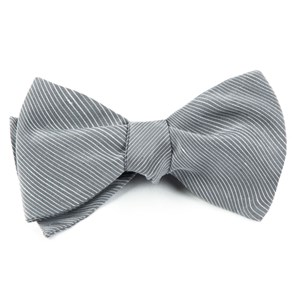 fountain solid silver bow ties