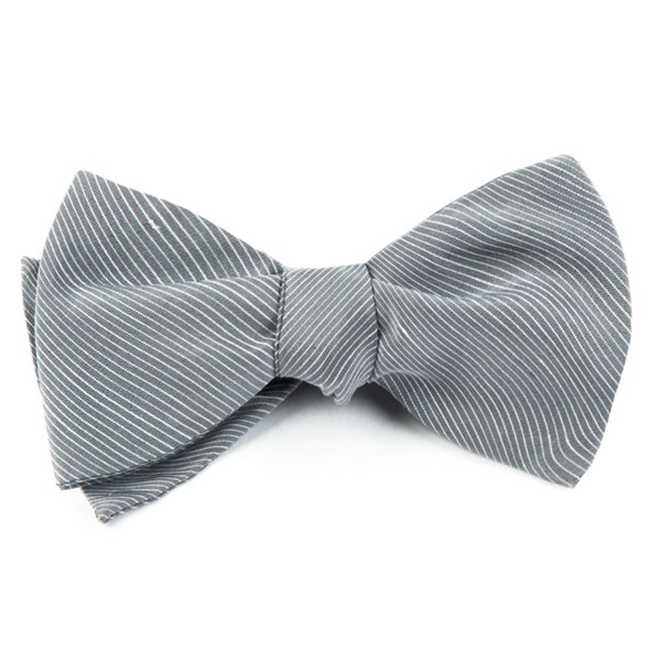 Silver Fountain Solid Bow Tie