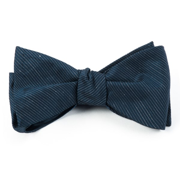 Navy Fountain Solid Bow Tie