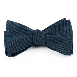 fountain solid navy bow ties