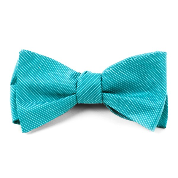 Ocean Blue Fountain Solid Bow Tie