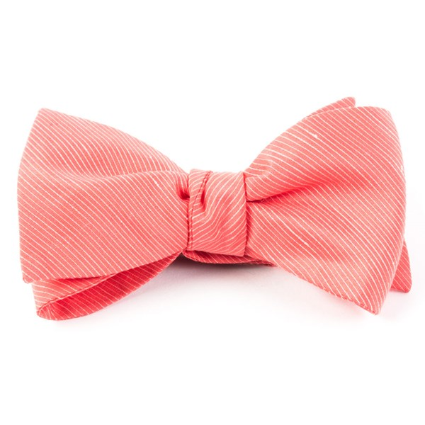 Coral Fountain Solid Bow Tie