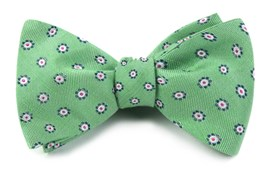 BOW TIES - HALF MOON FLORAL - APPLE GREEN