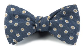 Bow Ties - HALF MOON FLORAL - NAVY