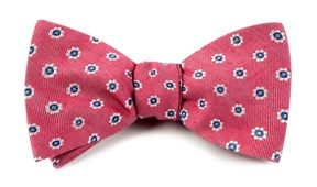 BOW TIES - HALF MOON FLORAL - RED