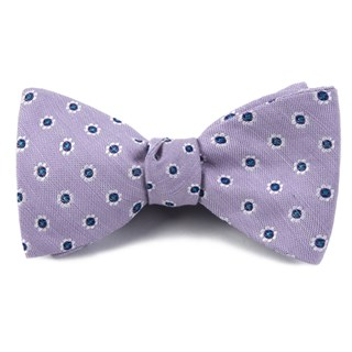 half moon floral lilac bow ties