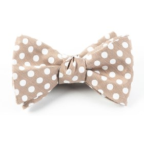 Cherry Beach Dots Champagne Bow Ties