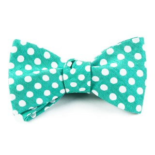 Cherry Beach Dots Mint Bow Tie