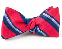 Bow Ties - SOCIAL STRIPE - APPLE RED