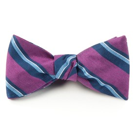 Social Stripe Azalea Bow Ties