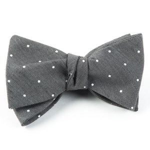 bulletin dot grey bow ties