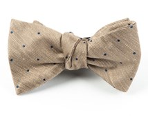 Bow Ties - Bulletin Dot - Tan