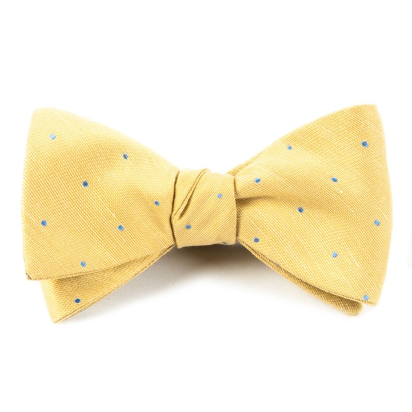 Yellow Bulletin Dot Bow Tie