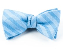 Bow Ties - INVISIBLE STRIPE - LIGHT BLUE