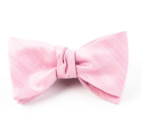 Baby Pink Invisible Stripe bow ties