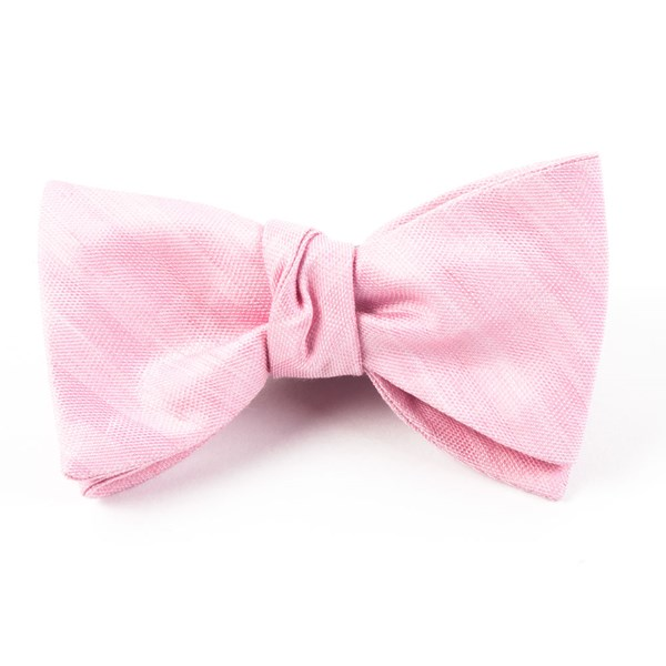 Baby Pink Invisible Stripe Bow Tie