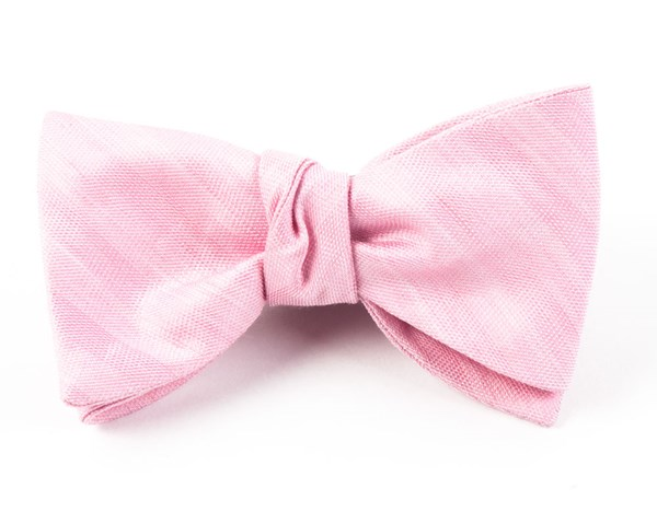Invisible Stripe Baby Pink Bow Tie