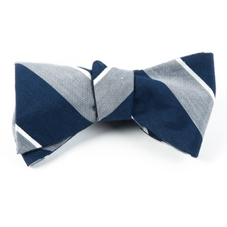 Patina Stripe Silver Bow Tie