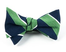 Bow Ties - PATINA STRIPE - Kelly Green