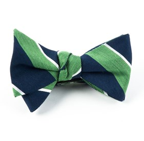 Patina Stripe Kelly Green Bow Ties