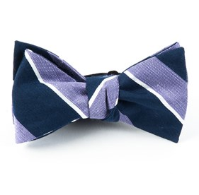 Patina Stripe Lilac Bow Ties