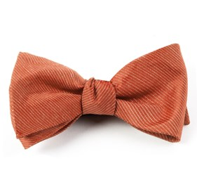Orange Fountain Solid bow ties