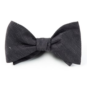 Fountain Solid Black Bow Ties