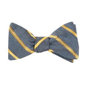 Editor Stripe Navy Bow Ties