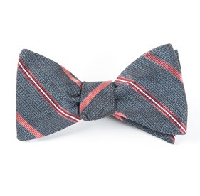 Whale Blue Editor Stripe bow ties